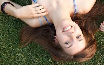 Upside smile